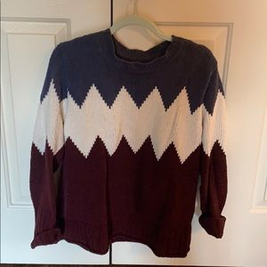 Tri-color Sweater